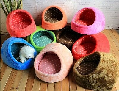 colorful Pet dog cat warm nest bed soft kennel puppy Plush Fleece House Kennel