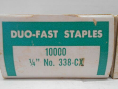 """338-CX 1//4/""""x1//4/"""" 10,000 Staples In A Box Lot Of 3 Duo-Fast Staples Box Of No"""