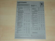 65769) Audi 80 quaatro Treser - Preise & Extras - Prospekt 08/1983