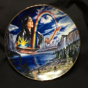 Franklin-Mint-Royal-Doulton-Rainbow-Maiden-Limited-Edition-Plate