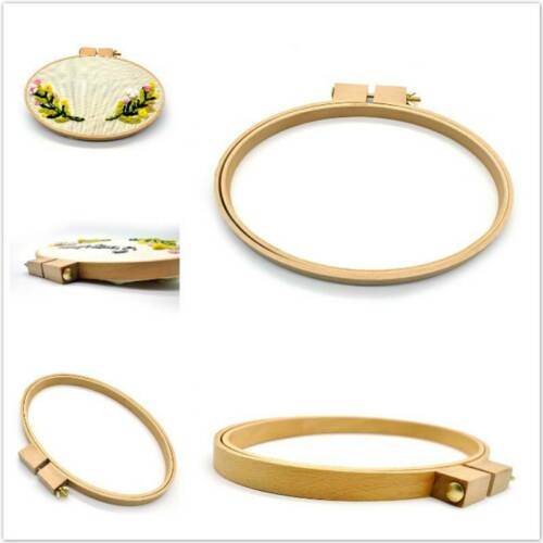 Oval //Round Solid Oak Wood Embroidery Hoops Cross Stitch Embroidery Hoop Ring QK