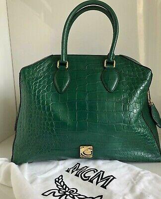 Original Tasche von MCM, Weekender, Echtleder, Kroko Prägung, Limited Edition. | eBay