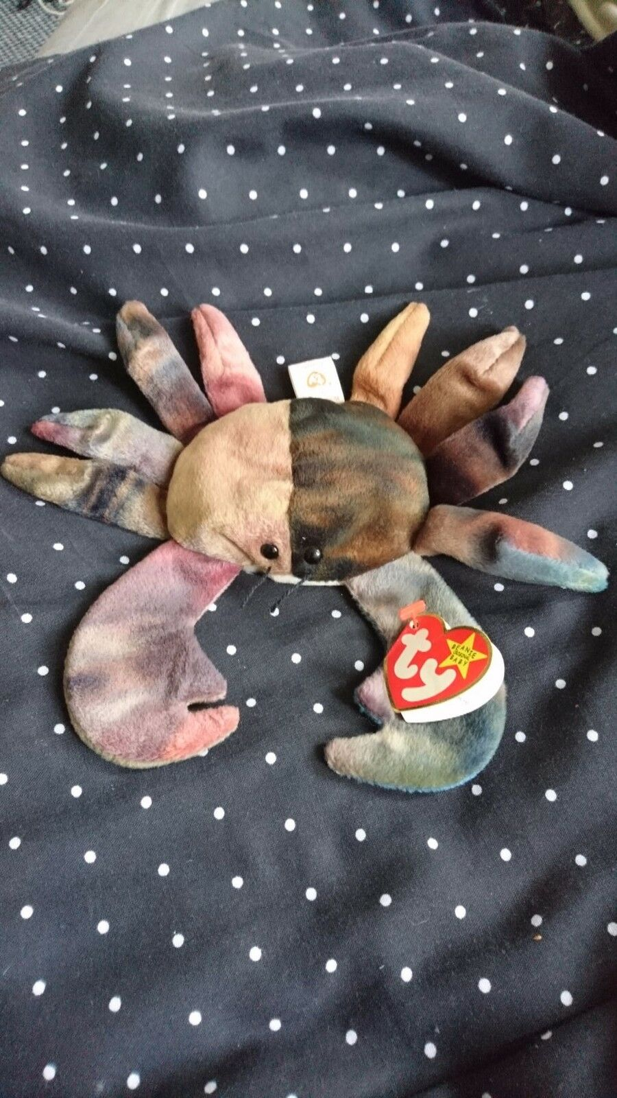 Ty Beanie Babies Baby Claude The Crab - Rare