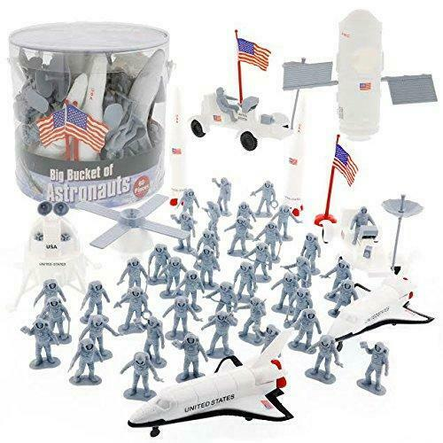 SCS Direct Space and Astronaut Toy Action Figures Big Bucket of...