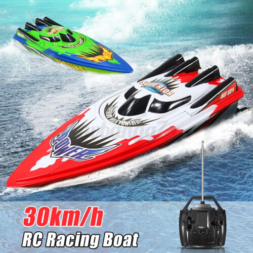 Battery RC Racing Boat Remote Control Ship High Speed Twin Motor Kids Toys Gift