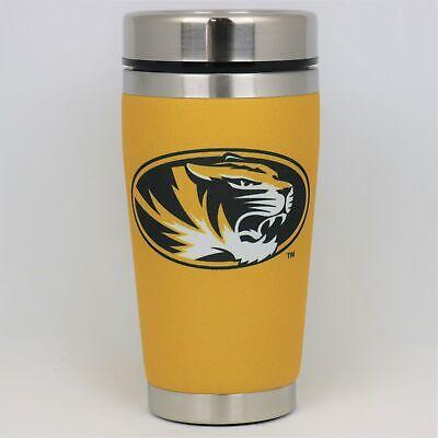 NCAA 15 oz Stainless Steel Travel Mug Tumbler with Team Color PVC Wrap