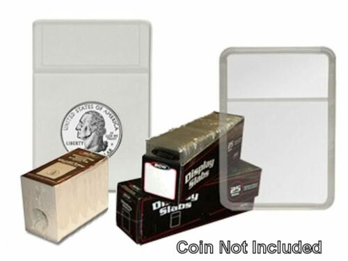 Quarter White Display Slab with Foam Insert-Combo 25 pack BCW