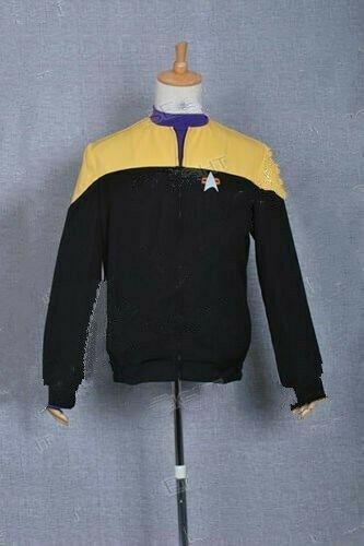 Star Trek Voyager star fleet Cosplay Costume Shirt Jacket Coat Halloween Party
