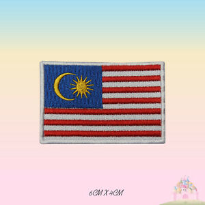 Malaysia National Flag Embroidered Iron On Patch Sew On Badge