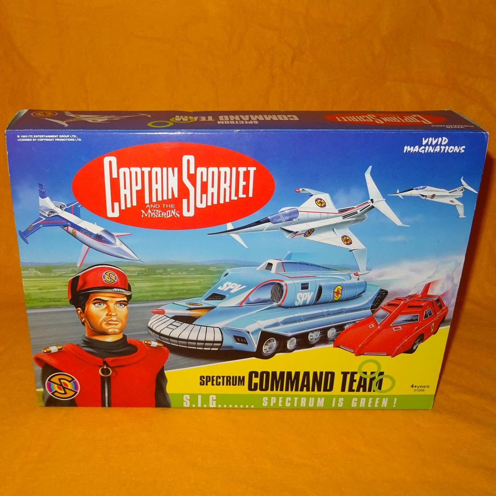 VIVID IMAGINATIONS 1993 captain scarlet spectrum Command Team COFFRET non ouvert