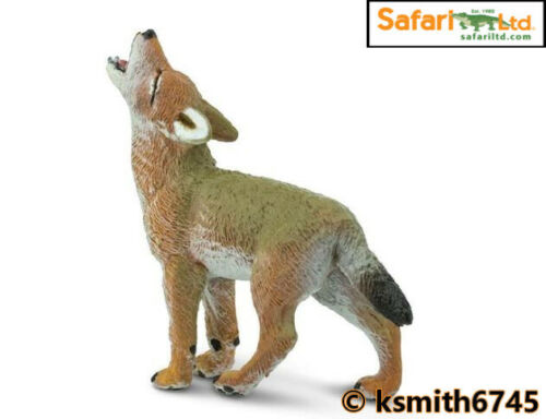 NEW * Safari COYOTE CUB solid plastic toy wild zoo baby dog animal puppy