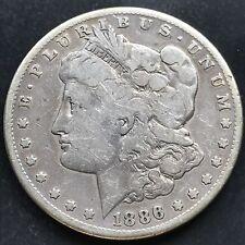 USA 1886 S Morgan Dollar San Francisco Silber Selten RARE 4759