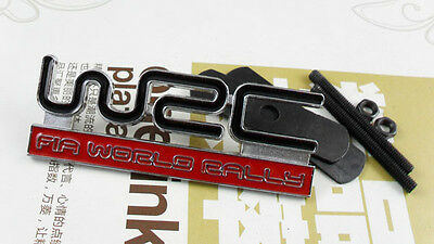 Auto Front Grille Grill Badge Emblem fit WRC Red Rally Impreza Foreater STI WRX