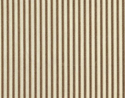 """NEW Gathered 22"""" French Country Ticking Stripe Suede Brown Queen Bedskirt Cotton"""