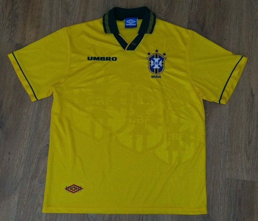 Brazil 1993 - 1994 rare vintage home shirt size XL