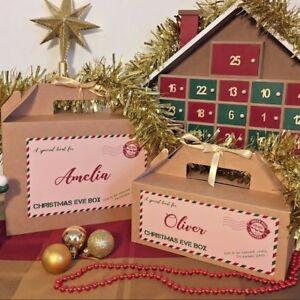 Personalised-Vigilia-di-Natale-Scatola-Regalo-Di-Natale-Favore-Nastro-di-carta-velina