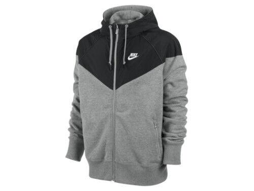 S-2XL Nike Men/'s Grey and Black Zipped up Track Running Jacket 510139 Sizes