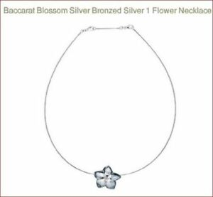 525-BACCARAT-CRYSTAL-BLOSSOM-SILVER-BRONZED-SILVER-1-FLOWER-NECKLACE-MIB