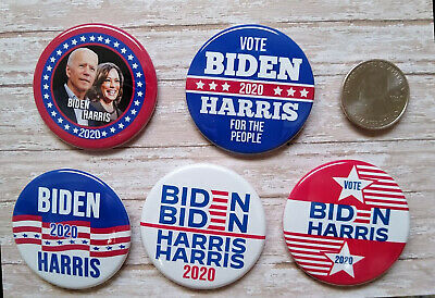 """Democratic badge BIDEN// HARRIS 2020 Buttons 5-1.75/"""" Button set Campaign"""