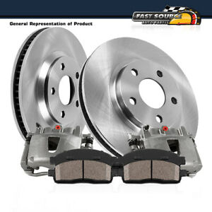 Front OE Brake Rotors and Ceramic Pads PAIR SET FOR 2004 2005 NISSAN MAXIMA
