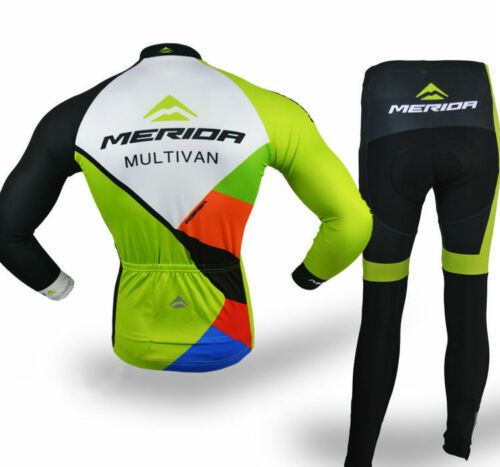 Merida Multivan Team Kit Men/'s Long Sleeve Cycle Jersey /& Cycling Long Pants Set