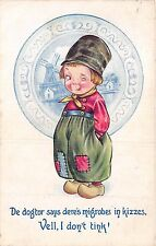 POSTCARD  COMIC  BAMFORTH    CHILDREN   Dutch  Kids