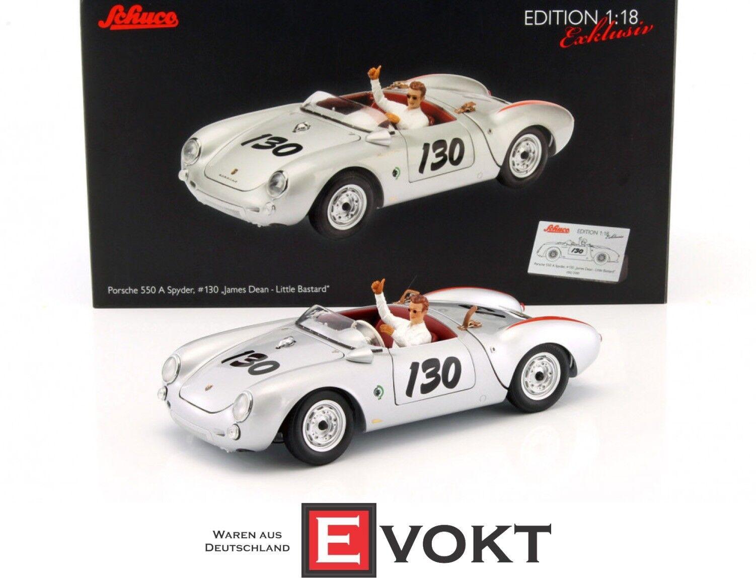 450033200 - Schuco Porsche 550 Spyder   130  James Dean  with figure - 1 18