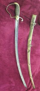 1800's CAVALRY SABER: British Yeomanry SWORD: Solingen : Brass Scabbard: US