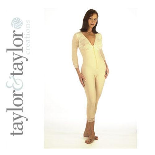 Post-Op Body Shaper Compression Garment 3//4 Sleeve
