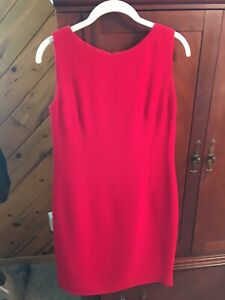 Talbots-Women-s-Ponte-Sheath-Dress-Red-Size-10-Petite