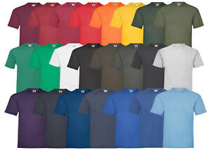 10-FRUIT-OF-THE-LOOM-T-SHIRT-SETS-BAUMWOLLE-S-M-L-XL-XXL-3XL-4XL-5XL-SHIRTS-NEU