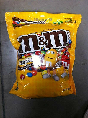 M&M Chocolate Peanut 56 oz Bulk Bag Candy Shell Candies Vending M&M's NEW M&MS