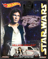 2015 Hot Wheels Pop Culture star Wars 1985 Chevy® Astro Van White/han Solo/moc