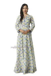 781aeb77aee Image is loading Indian-handmade-Floral-printed-Cotton-designer-Tunic-Kurta-