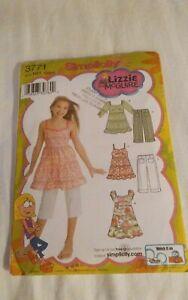 Oop-Simplicity-Lizzie-Mc-Guire-3771-girls-summer-top-dress-capris-sz-3-6-NEW