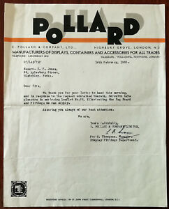 Pollard-Displays-Containers-amp-Accessories-Highbury-Grove-London-Letter-Feb-1955