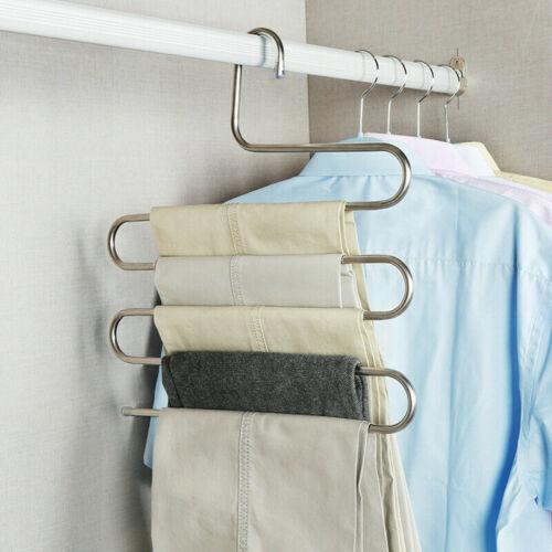 Pants Multi-functional Shelves Rack Stainless Magic Wardrobe Steel Hanger