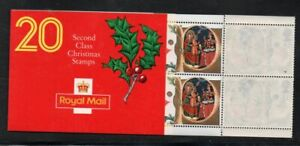 Great Britain Sc 1416a 1991 18p 2nd class Christmas stamp booklet mint NH