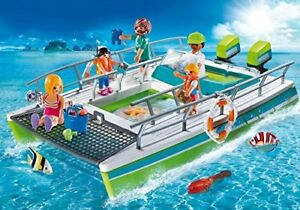 Playmobil-Bateau-Vues-Fond-Marine-avec-Moteur-Sous-Marin-9233-5-Figurines-Neuf