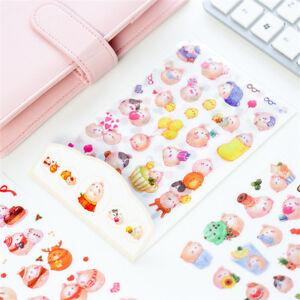 Details about 6pcs Colorful Rabbits Stickers Set DIY Scrapbooking Dairy  Photo Album Decoration
