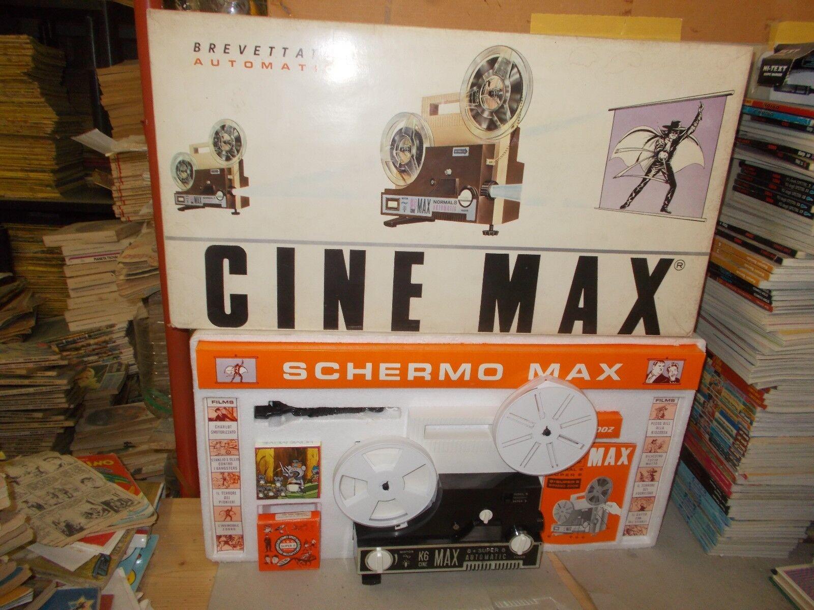 PROIETTORE CINE MAX K6 A MOTORE AUTOMATIC  MM 8 +SUPER 8 I.G.C. NUOVO+FILM+TELO