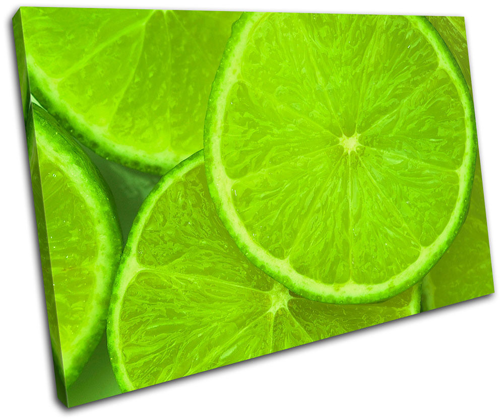 Lime Fruit Food Kitchen SINGLE Leinwand Wand Kunst Bild drucken