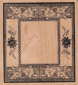 flower-tile-border-psx-Wood-Mounted-Rubber-Stamp-3-1-2-x-4-034-Free-Shipping