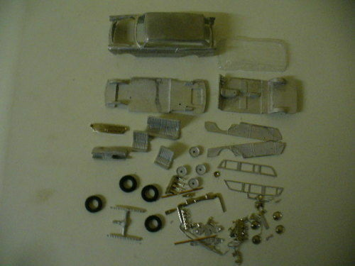 Austin A60 Countryman  1 43rd scale white metal kit by K & R Replicas