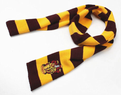 Cosplay Harry Potter Gryffindor Wool Knit Scarves Wrap Soft Winter Warm Shawl US