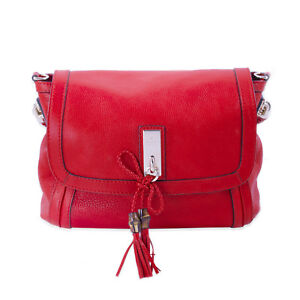 a2fc7c95cee Image is loading Gucci-Red-Leather-Bella-Shoulder-Bag