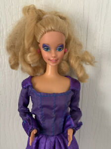 1966 1985 Rockers Barbie Doll Blonde Hair Blue Eyes Purple Dress Mattel Vintage