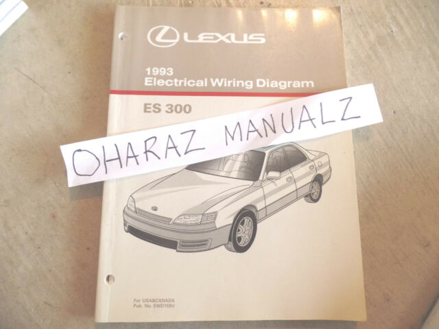 1993 Lexus Es300 Electrical Wiring Diagram Service Manual