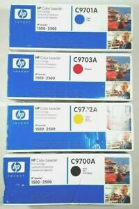 GENUINE-HP-LaserJet-1500-2500-Toner-CMYK-Bundle-C9700A-C9701A-C9702A-C9703A