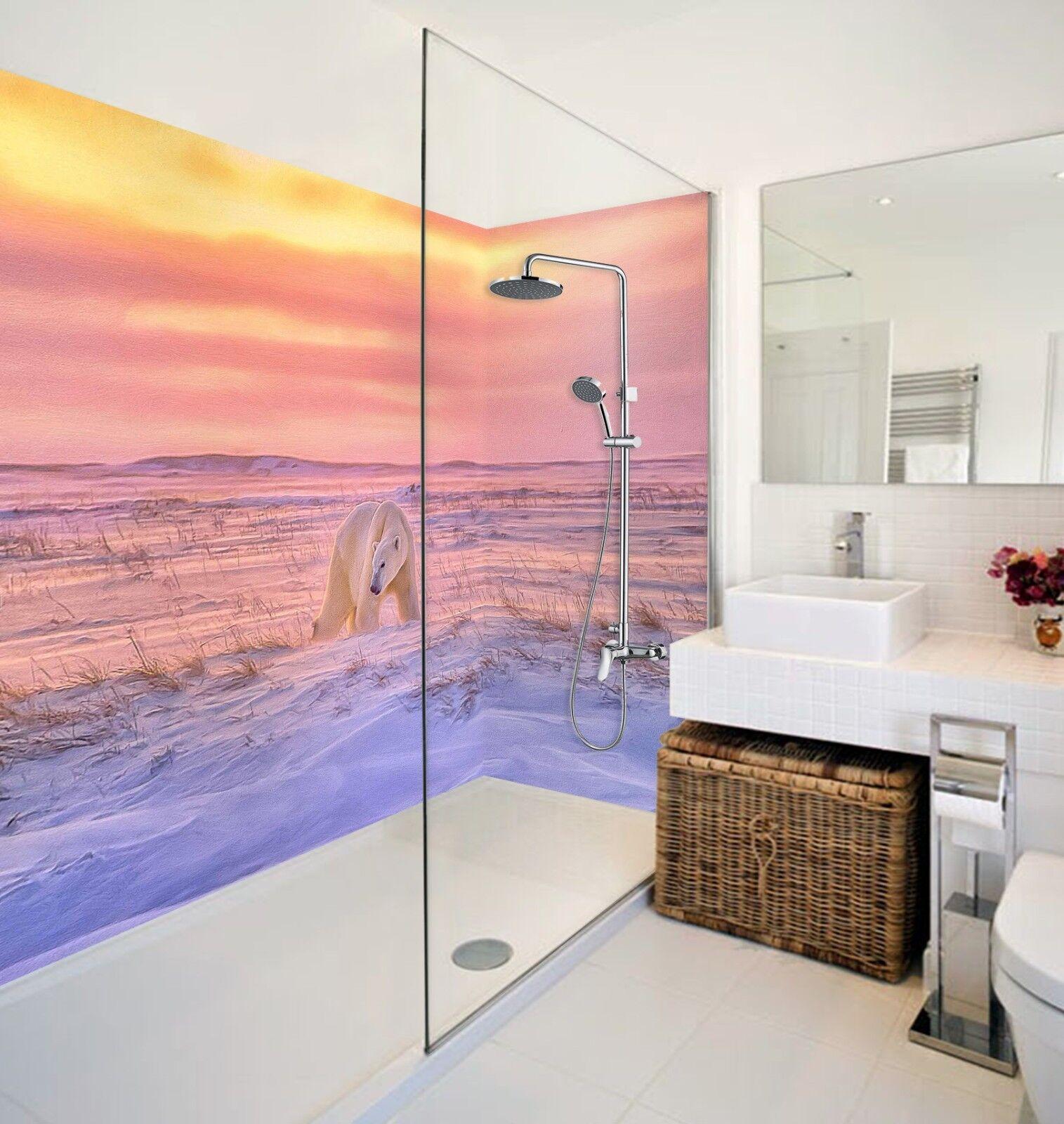 3D Snow Polar Bear 424 WallPaper Bathroom Print Decal Wall Deco AJ WALLPAPER AU
